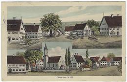 DEUTSCHLAND - WEIL - Gruss Aus Weil - 1920 - Weil Am Rhein