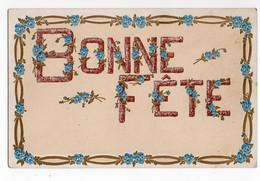 BONNE FETE * RUBAN DE PENSEES * Dorure - Other