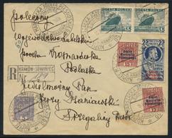 Poland 1935 Reg. Cover To Komarówka Podlaska Sent From The Pilsudski Mound (Kopiec Piłsudskiego), Superb Franking - Covers & Documents