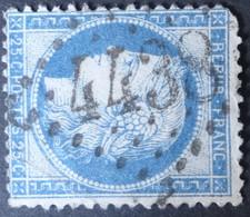 60C Obl BUREAU SUPPLEMENTAIRE GC 4438 Pussay (72 Seine & Oise ) Ind 8 - 1849-1876: Periodo Clásico