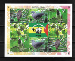 SANTO TOMÉ Y PRINCIPE 2005,  PLIEGO SIN DENTAR FAUNA AVES WWF.   MNH. - Sao Tome Et Principe