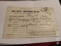 Ancienne Carte Postale Correspondance Militaire Guerre 14-18 - 1. Weltkrieg 1914-1918