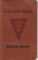 FREE CITY OF DANZIG Passport 1935 Passeport VILLE LIBRE DE DANZIG – Reisepaß - Documentos Históricos