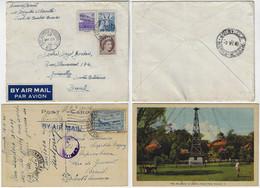 Canada 1941 Postcard Cancel Postage Due From Amherstburg To Brazil + Airmail Cover Sainte-Brigide-d'Iberville - Cartas