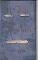 TURKEY Passport 1933 Passeport TURQUIE – Reisepaß – Revenues/Fiscaux - Documentos Históricos