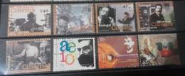 Portugal - 8 Selos Usados, Década 90 (cinema, Music) - Used Stamps