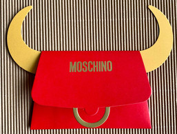CC Chinese New Year 'MOSCHINO' 2021 YEAR Of OX Red Pocket CNY Chinois RARE! - Modern (from 1961)