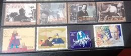 Portugal - 8 Selos Usados, Década 90 (Fauna, Animal, Cinema, Europa-CEPT) - Used Stamps