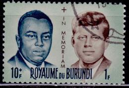 Burundi, 1966, Presidents Commemoration, 10f, Used With Gum - 1962-69: Gebraucht