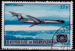 Burundi, 1967, Airmail, Vickers VC10 Airplane, 17f, Used With Gum - 1962-69: Gebraucht