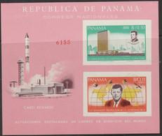 10/5 PANAMA - 1966 Imperf J. F. Kennedy Souvenir Sheet. MLH - Panama