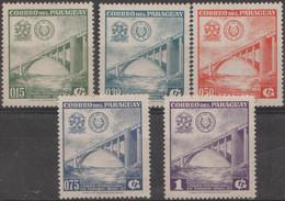 5/5 PANAMA - 1961 Bridges. Scott 572-576. Mint - Panama