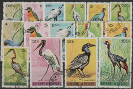 5/5 BURUNDI - 1965 Birds. Scott 117-125. Used - 1962-69: Gebraucht