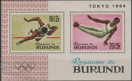 5/5 BURUNDI - 1964 Olympic Games Souvenir Sheet. Scott B8. MNH - 1962-69: Ungebraucht