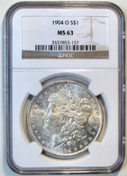 1904-O Morgan Silver Dollar. NGC Certified MS63. M21. - 1878-1921: Morgan