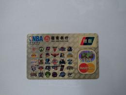 China, NBA, Basketball, (1pcs) - Carte Di Credito (scadenza Min. 10 Anni)