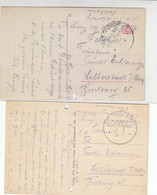 Marineschiffspost Von Der SMS SCHLESWIG-HOLSTEIN 1914+1917 Leider Mit LÖCHERN / AK-SCHLESWIG-HOLSTEIN - Covers & Documents