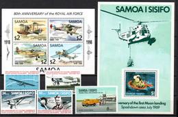 T1-14 Samoa N° 341 + 388 à 391 + BF 13 + BF 62  ** A Saisir !!!  Avions - Samoa