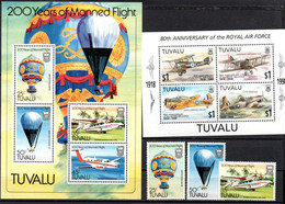 T1-15 Tuvalu N° BF 8 + + BF 62 + 3 Timbres  ** A Saisir !!!  Avions - Tuvalu
