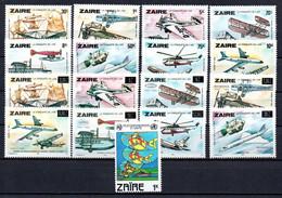 T1-15 Zaïre N° 318 à 325 + 1064 + 1186 à 1193 ** A Saisir !!!  Avions - Ohne Zuordnung