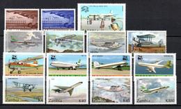 T1-15 Zambie N° 31 + 32 + 185 + 294 à 297 + 416 à 419 + 562 à 565 ** A Saisir !!!  Avions - Zambie (1965-...)