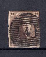 (B) 1° Gestempeld 1849 - Z.M. Koning Leopold I - 1849 Hombreras