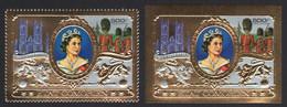 Komoren 1977 - Mi-Nr. 360 A & B ** - MNH - - Gold - Queen Elizabeth II - Komoren (1975-...)