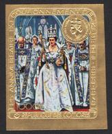 Komoren 1978 - Mi-Nr. 414 B ** - MNH - Ungez / Imp - Gold - Queen Elizabeth II - Komoren (1975-...)