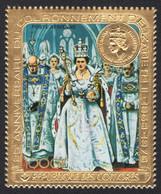 Komoren 1978 - Mi-Nr. 414 A ** - MNH - Gold - Queen Elizabeth II - Komoren (1975-...)