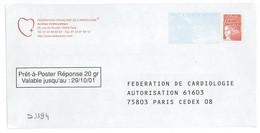 D1194 - Entier / Stationery / PSE - PAP Réponse Luquet - Fédération De Cardiologie - Autorisation 61603 - PAP: Ristampa/Luquet