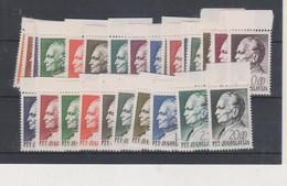 YUGOSLAVIA,  TITO 1967 & 1968 SET MNH - Neufs