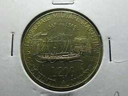 Italy 200 Lire 1989 Centenario Dell Arsenale Militare Marittimo Di Taranto - 200 Lire