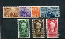 Ethiopie 1936 Yt 1-7 * - Etiopia