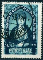 "Portugal 1952 Michel-# 814 "" 2.50 Esc Grün Pr.Johanna Satz-Spitzenwert "" Mi ~7 € - Sin Clasificación"