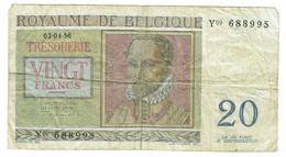 Belgique - Billet De 20 Francs - Roland De Lassus & Philippe De Monte  3 Avril 1956 - P132b - Other