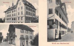 Gruss Aus Beckenried - Schulhaus Post-Bureau - NW Nidwalden
