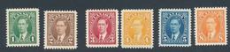 Timbre Yvert N° 190 à 195  Charnière Michel N°197A à 202  Année 1937 - Nuevos