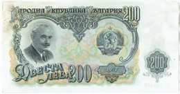 Bulgarie - Billet De 200 Leva - Georgi Dimitrov - 1951 - P87a - Bulgaria