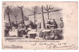 SAINT BRIEUC - Scènes De Foire - Marchandes De Saucisses Et De Morue Frites  (carte Animée) - Saint-Brieuc