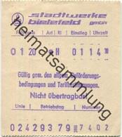 Deutschland - Stadtwerke Bielefeld GmbH - Fahrschein 1979 - Europe