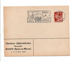1 ER JOUR FLAMME DE BONS HAUTE SAVOIE 1958 - Mechanical Postmarks (Advertisement)