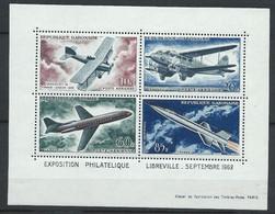 Gabon YT Bloc 1 Neuf Sans Charnière XX MNH Aviation Espace Space - Gabon