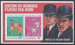 Gabon YT Bloc 18 Avec Carnet Neuf Sans Charnière XX MNH Fleur Flower Aviation Wright - Gabon