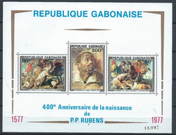 Gabon YT Bloc 28 Avec Carnet Neuf Sans Charnière XX MNH Art Rubens - Gabon