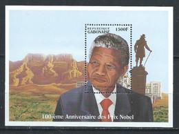 Gabon YT Bloc 76 Avec Carnet Neuf Sans Charnière XX MNH Nobel - Gabon