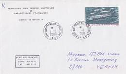Kerguelen, N° 268 ( Poisson Lanterne) Obl. Premier Jour Le 1/1/00 Sur Env. TAAF + Coordonnées - Lettres & Documents