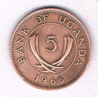 5 CENTS 1966 OEGANDA /3969/ - Uganda