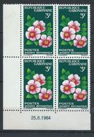 Gabon YT 175-177 En Coin Daté Neuf Sans Charnière XX MNH Fleur Flower - Gabon