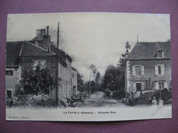 CPA 52 LAFERTE SUR AMANCE écrit LA FERTE Grande Rue ANIMEE 1906 Canton De CHALINDREY Photo émail ( Luxe Brillante ) - Nogent-en-Bassigny