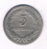 5 CENTAVOS 1919 EL SALVADOR /3973/ - El Salvador